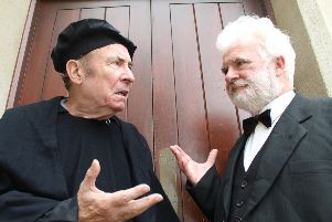 Michael Roper and Gerry Farrell, who will star in 'The First Protestant'.
