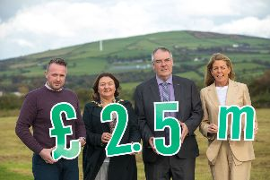 A �2.5m investment will create over 130 new jobs for rural businesses in Derry and Strabane thanks to the Derry and Strabane Rural Partnership's Rural Business Investment Scheme, with 73 of these jobs already in place.''The funding, delivered under the Northern Ireland Rural Development Programme 2014 '2020, is supporting 55 rural businesses with capital investment projects that are creating jobs and enhancing export potential. It will also provide successful applicants with resources towards bespoke training and marketing services aimed at promoting business growth. ''Pictured celebrating the �2.5million investment is: Conor Mc Crossan, Managing Director of KES Group Ltd; Mayor of Derry City and Strabane District Council, Councillor Michaela Boyle; Chair of the Local Action Group of the Derry and Strabane Rural Partnership, Councillor Jim McKeever and Fiona McCandless, Deputy Secretary of DAERA.