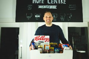 Pictured at the Hope Centre on 40 Duke Street in Derry is John Loughery, a member of the leadership team at the Hope Centre and Cornerstone City Church.