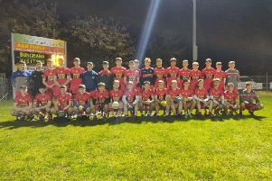 The Cathair Dhoire panel who scored a first Mac Rory Cup win when they defeat Inis Eoghain by a point at The Scarvey on Wednesday night.