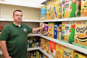 James McMenamin, manager of the Foyle Foodbank.  DER2619GS-054