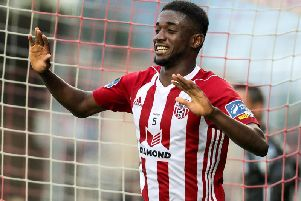 Junior Ogedi-Uzokwe won the League of Ireland Premier Division Golden Boot with Derry City last season.