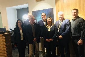 Mayor of Derry City and Strabane District Council, Councillor Michaela Boyle and An Cathaoirleach of Donegal County Council, Councillor Nicholas Crossan meeting with officials from the Appalachian Mountain Club (AMC), the Appalachian Trail Conservancy (ATC) and the International Appalachian Trail (IAT) in Boston to discuss ongoing development of the Ulster Ireland section of the International Appalachian Trail.