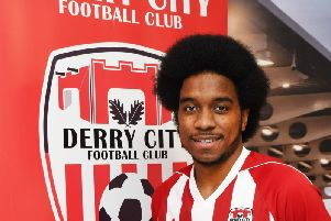 Derry City's new signing, Walter Figueira.