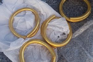 The Bronze Age gold haul was discovered in East Donegal.