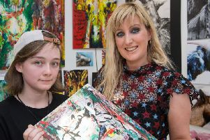 Emma Dickson, who has been nominated for the CCS creative tutor of the year award, pictured with Lauren McConachie.  (Picture: Martin McKeown).