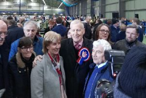 Gregory Campbell has been returned with an increased majority in East Derry.