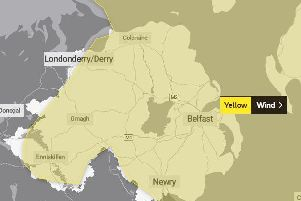 The Met Office has issued a yellow status weather warning of wind for all of Northern Ireland.