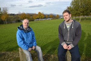 Eamon O'Donnell and Paul Hughes from the Enagh Youth Forum.