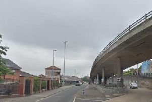 The vehicle was found abandoned under the Lecky Road flyover a while later. (Photo: Google Maps)
