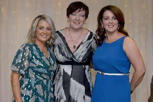 Deirdre Cassidy, Yvonne Devenney and Lisa Story, Altnagelvin Parents Support, pictured at the Derry Journal People of the Year Awards held recently in the Waterfoot Hotel. DER3619GS ' 054