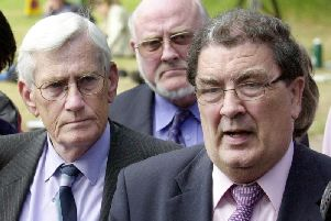 The late Seamus Mallon with John Hume.