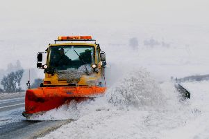 A snow plough is used to clear the road on the Glenshane Pass in 2013.