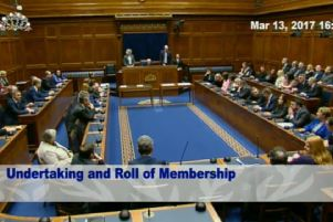 This is the only time that MLAs have sat in the Assembly chamber since January ' and it lasted just 46 minutes