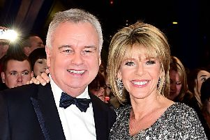 Ruth Langsford, with her husband Eamonn Holmes who has been awarded an OBE for his services to broadcasting in the New Year Honours list. PRESS ASSOCIATION
