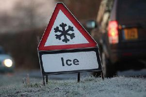 Ice weather warning