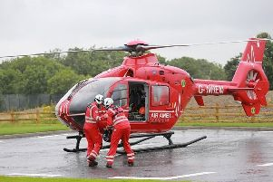 Man taken to hospital after falling into 'water'