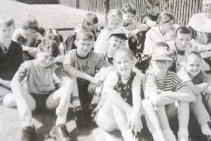Children from the Maryville estate enjoying a day out in Newcatle in 1995.