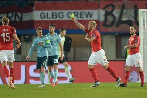 Austria's Arnautovic scores the only goal of the match against Northern Ireland