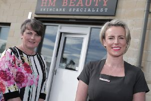 Helen (pictured right) with Melanie Christie Boyle, Chief Executive of Ballymena Business Centre, who provided Helen with expert advice and help with developing a business plan in order to help turn her business idea into a reality