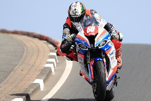 Peter Hickman set the fastest lap overall on Tuesday in the Superstock session at the North West 200 on the Smiths BMW.