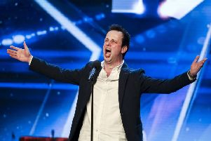 Ronan Busfield on Britain's Got Talent.. ITV PICTURES