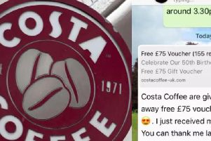The Costa Whatsapp scam