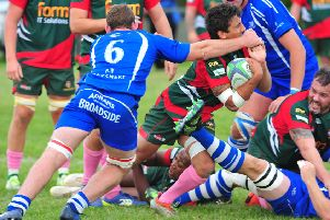 Tom Mahendran in action against Diss - pic: Ian Nancollas