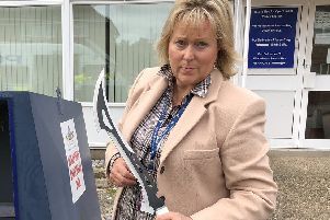 PCC Kathryn Holloway. The money will go towards fighting gang, gun and knife crime