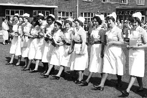 1939: L&D nurses putting their best foot forward.