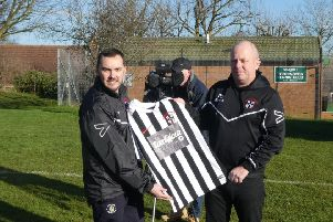 Toddington Rovers FC Club Secretary Gary McEvoy and Club Chairman Pete Ward. Photo by David Ward