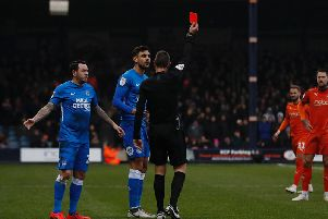 Ryan Tafazolli is sent off at the weekend