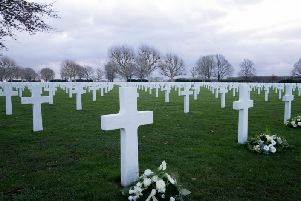 A tiny corner of the vast American Cemetery in Margraten which originally held the remains of more than 20,000 men