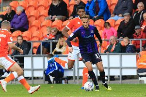 Town midfielder Andrew Shinnie