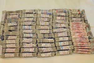 Some of the seized cash