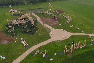 Aerial view of Bennett's Adventure Play. Photo from Dunstable Town Council