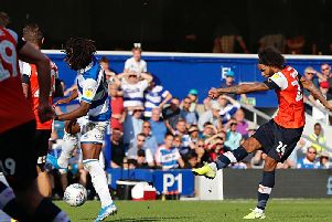 Izzy Brown goes for goal against QPR on Saturday