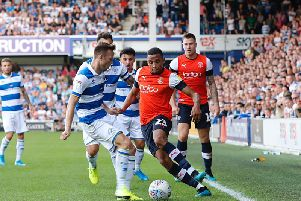Brendan Galloway gets forward against QPR on Saturday