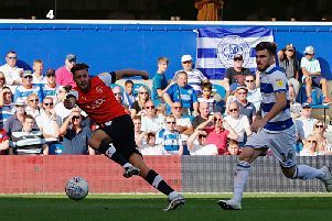Harry Cornick in action against QPR on Saturday