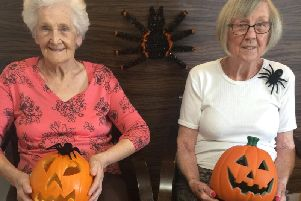 Residents Flo Wilder and Gloria Burgess