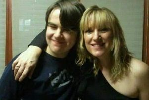 Sarah with her son Jake