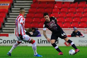 Former Hatter Alan Sheehan in action against Stoke City earlier this season