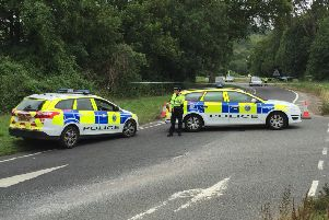 The scene remains cordoned off SUS-150717-120445001