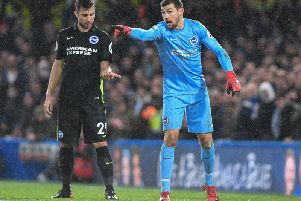 Mathew Ryan pictured at Stamford Bridge on Boxing Day. Picture by Phil Westlake (PW Sporting Photography)