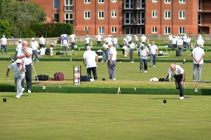 The Polegrove greens were a hive of activity during last year's Bexhill Men's Open Bowls Tournament. Picture by Justin Lycett
