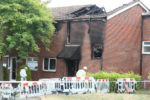 Fatal house fire in Croxden Way, Eastbourne SUS-180718-135841001