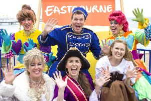 Cast members of the forthcoming Devonshire Park panto Cinderella