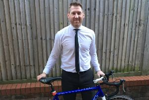 Stephen Ash, partner at QualitySolicitors Barwells, is preparing for an epic charity bike ride from London to Amsterdam SUS-181209-144707003