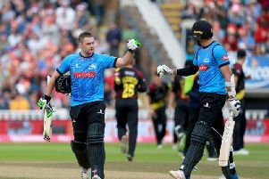 Luke Wright and David Wiese shared a superb partnership in the win over Somerset  / Picture by Stephen Lawrence-Sussex Cricket