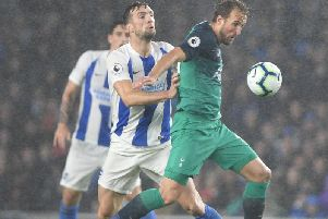 Shane Duffy pressures Harry Kane